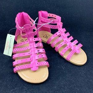 Bobbie Brooks NEW girls zip back gladiator sandals